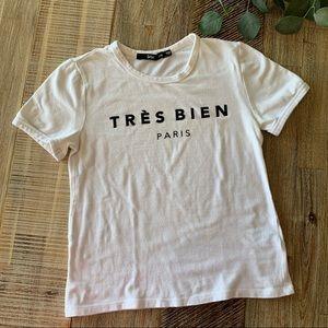Sportsgirl Tres Brien Paris T-shirt Size XXS
